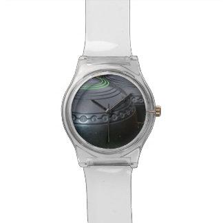 Los cuencos del césped, señoras blancas pueden reloj de pulsera