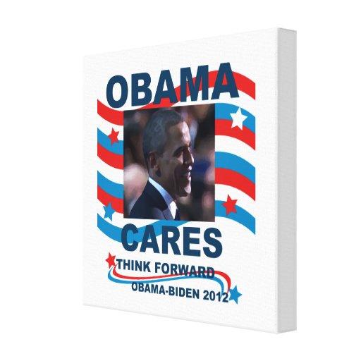 Los cuidados de Obama de la lona piensan adelante  Impresion De Lienzo