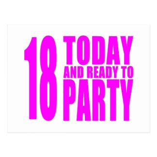 Los cumpleaños divertidos 18 de los chicas hoy y postal