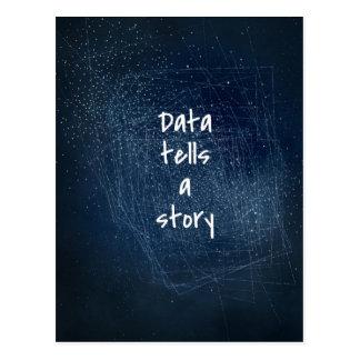 Los datos cuentan una historia - postal del friki