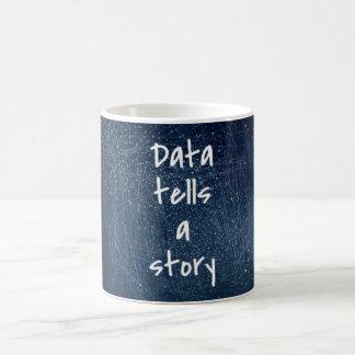 Los datos cuentan una historia - taza del friki
