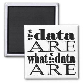 """""""los datos son cuáles son"""" imán los datos"""