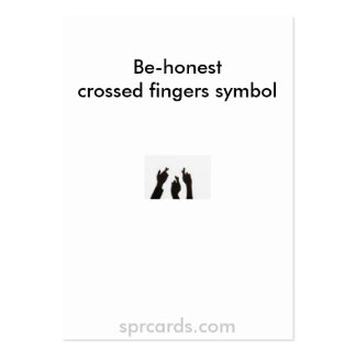 los dedos cruzados, Son-honestcrossed symbo de los Tarjetas De Visita Grandes