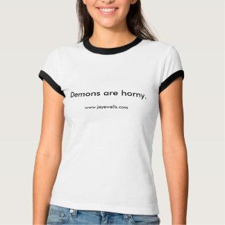 Los demonios son córneos camisetas