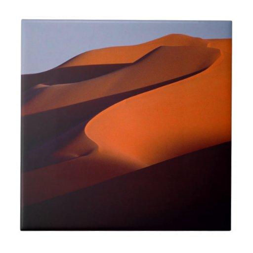 Los desiertos sombrean la arena Marruecos Teja