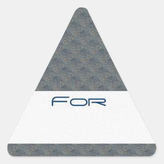 Los diamantes azules cepillados oro modelaron la colcomanias triangulo personalizadas