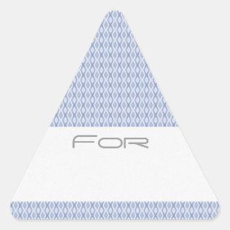 Los diamantes azules helados modelaron la etiqueta