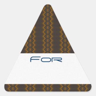 Los diamantes del resplandor de oro modelaron la calcomania de trianguladas