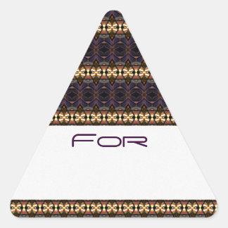 Los diamantes fantasmagóricos modelaron la pegatinas de triangulo personalizadas