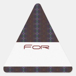 Los diamantes hivernales de la mora modelaron la calcomanía de trianguladas
