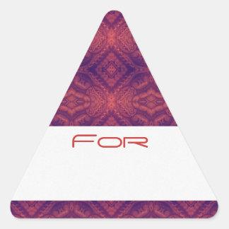 Los diamantes púrpuras de la puesta del sol colcomanias trianguladas