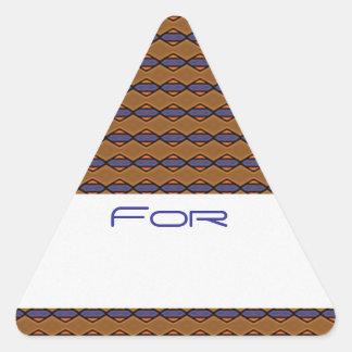 Los diamantes púrpuras y anaranjados modelaron la colcomanias triangulo personalizadas