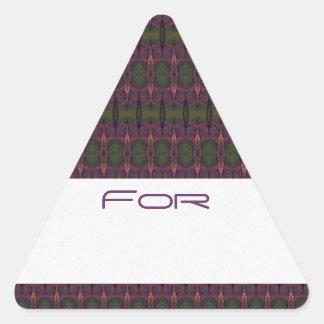 Los diamantes púrpuras y verdes modelaron la calcomanía de triangulo personalizadas