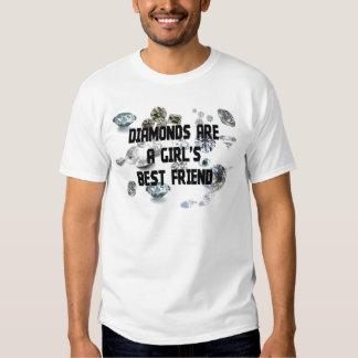 Los diamantes son el mejor amigo de un chica camiseta