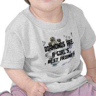 Los diamantes son el mejor amigo de un chica camisetas