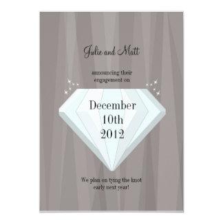 Los diamantes son Forever Invitación 12,7 X 17,8 Cm