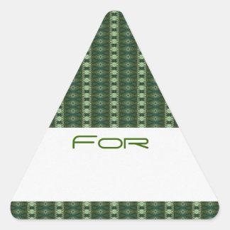 Los diamantes verdes del dólar modelaron la pegatina triangular