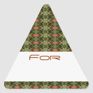 Los diamantes verdes y anaranjados modelaron la colcomanias trianguladas