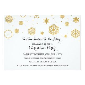 Los días de fiesta blancos de Navidad de la fiesta Invitación 12,7 X 17,8 Cm