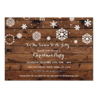 Los días de fiesta de madera de Navidad de la Invitación 12,7 X 17,8 Cm