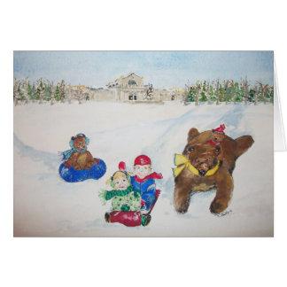 Los días de fiesta en tarjeta de Navidad de la