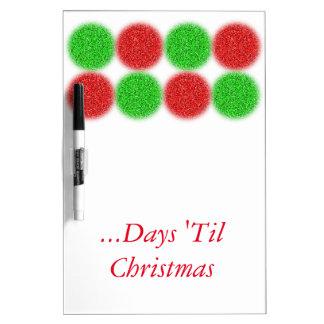 Los días hasta navidad secan al tablero del