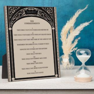 Los diez mandamientos placa expositora