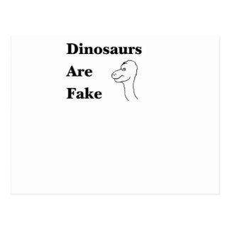 Los dinosaurios son falsificación postal