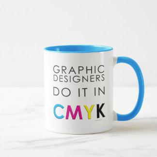 Los diseñadores gráficos lo hacen en CMYK Taza