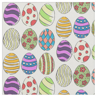Los diseños enrrollados teñieron los huevos de tela
