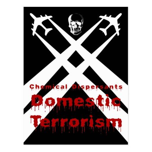 Los dispersores químicos son terrorismo nacional tarjeta postal
