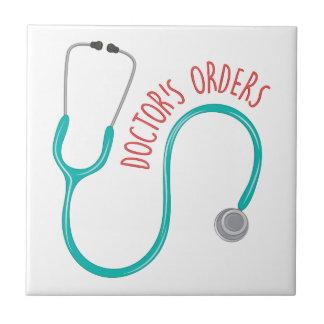Los doctores Orders Azulejo Cuadrado Pequeño
