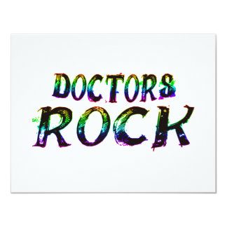 LOS DOCTORES ROCK WITH COLOR INVITACIÓN 10,8 X 13,9 CM