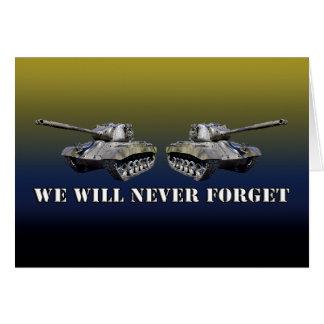Los dos tanques nunca olvidan - la tarjeta