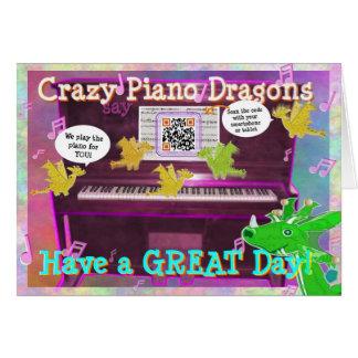 Los dragones locos del piano dicen tienen un gran tarjeta de felicitación