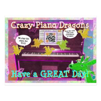 Los dragones locos del piano dicen tienen una gran postal