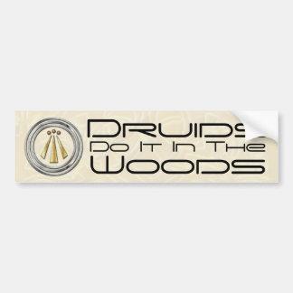 Los druidas lo hacen en las maderas - pegatina par