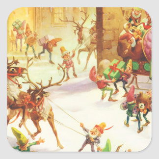 Los duendes de Santa alistan su trineo el Colcomanias Cuadradases