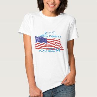 Los E.E.U.U. 2014 deportes de invierno Skijoring Camiseta