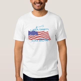 Los E.E.U.U. 2014 deportes de invierno Skijoring Camisetas