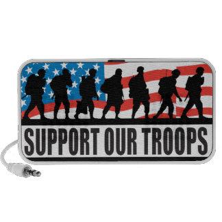 los E.E.U.U. apoyan a nuestras tropas Notebook Altavoces