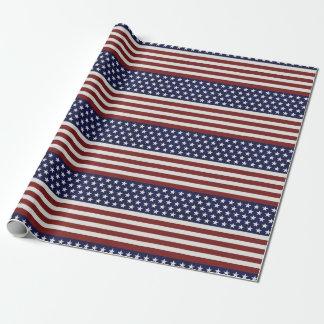 Los E.E.U.U. bandera americana personalizado Papel De Regalo