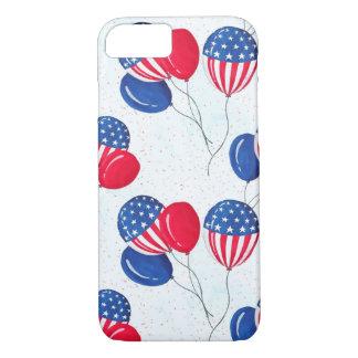 Los E.E.U.U. bandera globo americano 4 de julio Funda iPhone 7