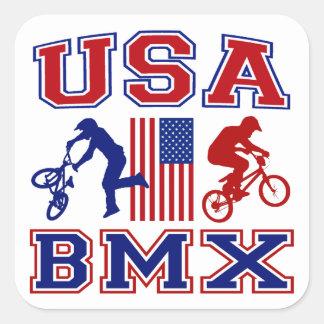 LOS E.E.U.U. BMX CALCOMANIA CUADRADAS