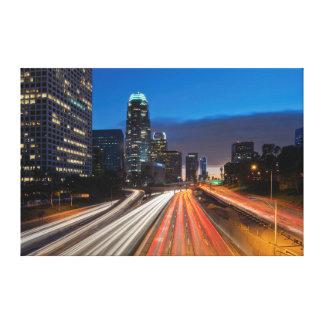 Los E.E.U.U., California, Los Ángeles, autopista Impresiones De Lienzo