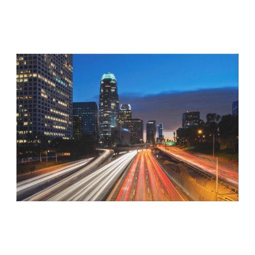 Los E.E.U.U., California, Los Ángeles, autopista Impresiones En Lona Estiradas