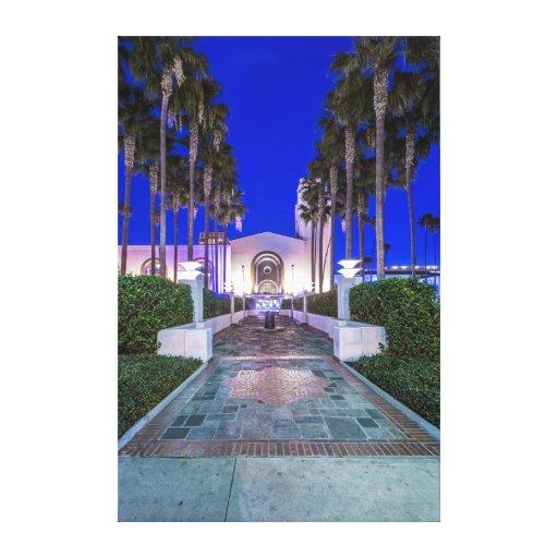 Los E.E.U.U., California, Los Ángeles, estación de Lona Envuelta Para Galerias