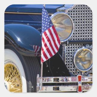 Los E.E.U.U., Colorado, Frisco. Auto de Packard Pegatina Cuadradas Personalizada