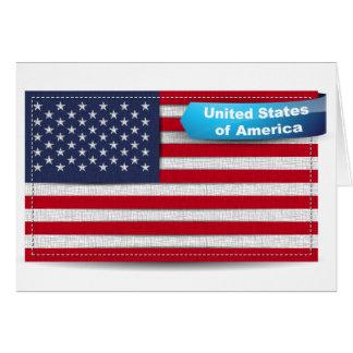 Los E.E.U.U. cosieron concepto de la bandera de la Tarjetas