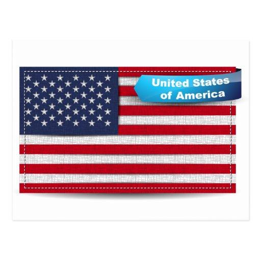 Los E.E.U.U. cosieron concepto de la bandera de la Tarjetas Postales